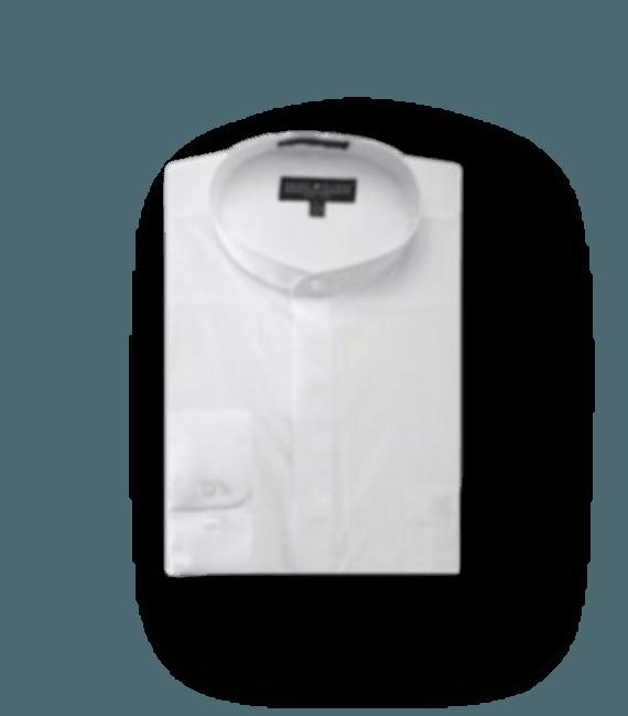 Poly Cotton Collarless Shirt Mens