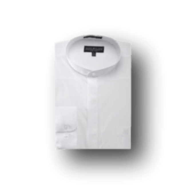 Poly Cotton Collarless Shirt Mens