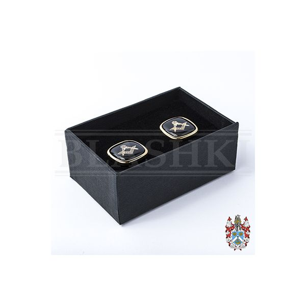 Cufflink Set, Black (Boxed)_400
