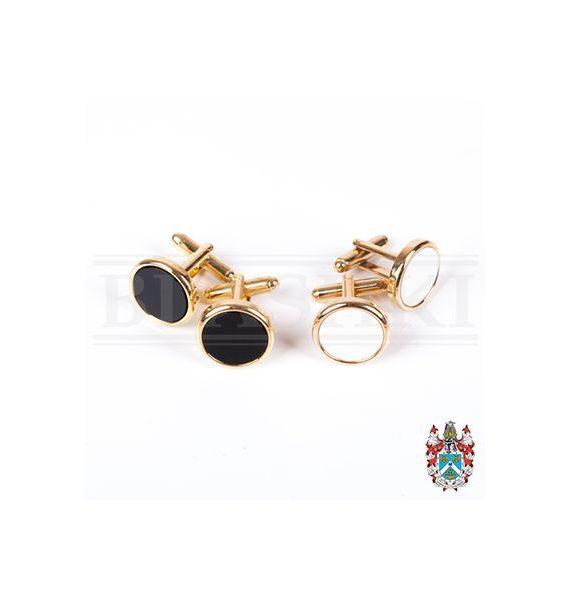 Cufflink Set, Black or White (Loose)-400