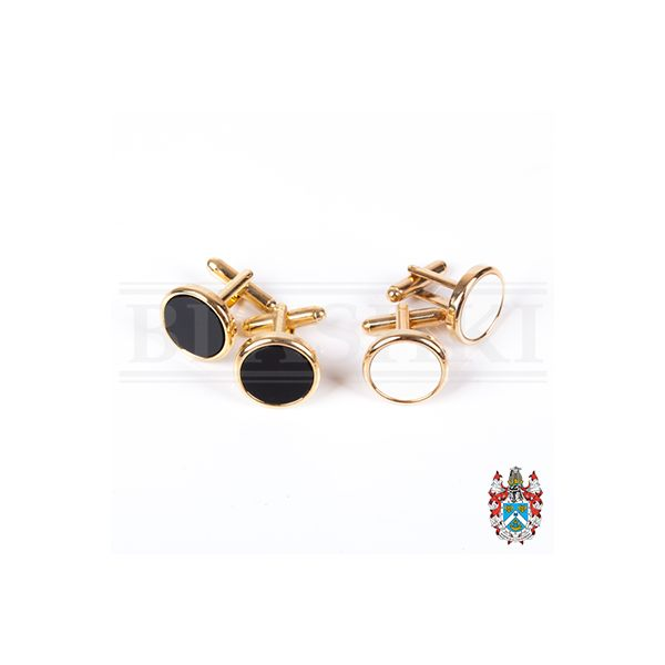 Cufflink Set, Black or White (Loose)-400