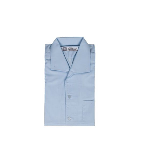 blue open neck shirt eccles11